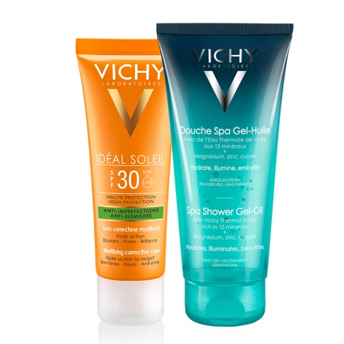 Vichy Capital Soleil Spf30+ Mattifying Corrective Care Cream 50ml | Ideal Body Duş Yağı HEDİYE