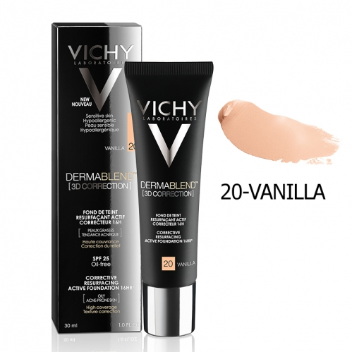 Vichy Dermablend 3D Correction SPF25 Oil-Free Foundation 30ml - Thumbnail