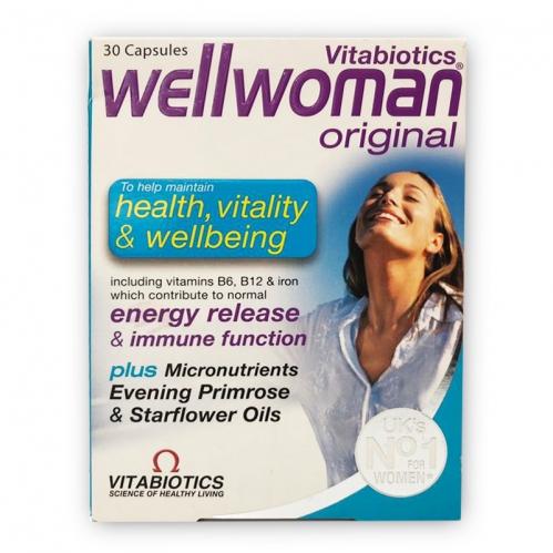 Vitabiotics - Vitabiotics Wellwoman Energy Release & İmmune Function 30 Capsules