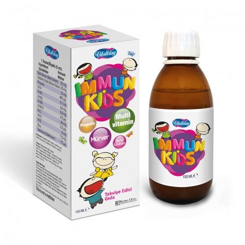 Alopecia Ürünleri - Vitaday İmmun Kids Takviye Edici Gıda 200 ml