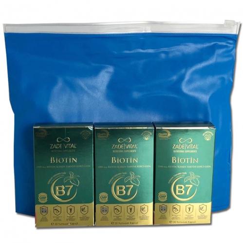 Zade Vital - Zade Vital Biotin B7 30 Yumuşak Kapsül 3 Al 2 Öde