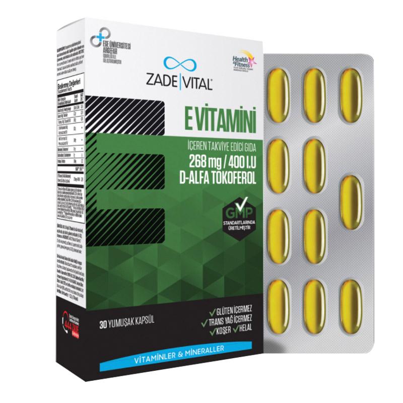 Zade Vital E Vitamini 30 Kapsul Dermoeczanem Com