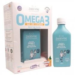 Zade Vital - Zade Vital Premium Omega 3 Portakal Aromalı Balık Yağı Şurubu 200ml