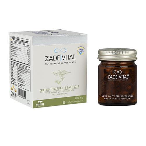 Zade Vital - Zade Vital Yeşil Kahve Çekirdeği Yağı 25 Yumuşak Kapsül