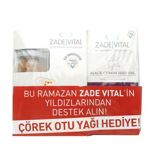 Zade Vital - Zade Vital Zeytinyağlı Kudret Narı Cam Kavanoz 20x8 ml + Çörek Otu Yağı Hediye