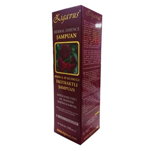 Zigavus Ürünleri - Zigavus Biber & At Kuyruğu Ekstraktlı Şampuan 450ml