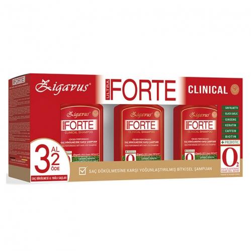 Zigavus Ürünleri - Zigavus Forte Clinical Saç Dökülmesine Karşı Bakım Şampuanı 3 al 2 Öde - Yağlı Saçlar