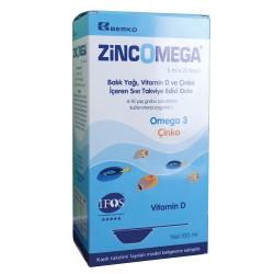 Berko - Zincomega Omega-3 Balık Yağı 5ml x 20 Kaşık